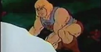 He-Man and She-Ra Try to Pick Up This Massive Bit of Ice