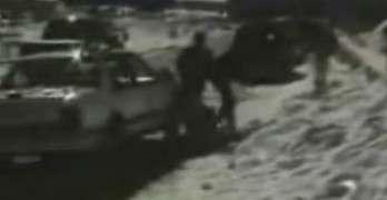 Sledding Fail Into A Parked Car