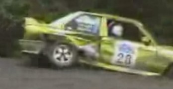 Rally Race Crashes Around The Worst Corner Ever