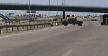 Iraq Roadside Bomb Close Call