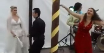 Drunk Woman At Wedding Brings Down Tent