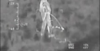 US Soldier Caught On Infrared Camera