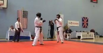 Kicked In The Balls During Karate Match