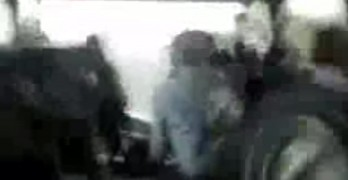 Tornado Hits Bus and Caught On Camera