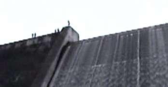 Jumping Off Dam In Lake Gordon