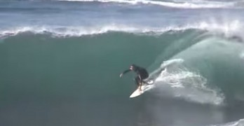 Surfing Wipeout On Huge Wave