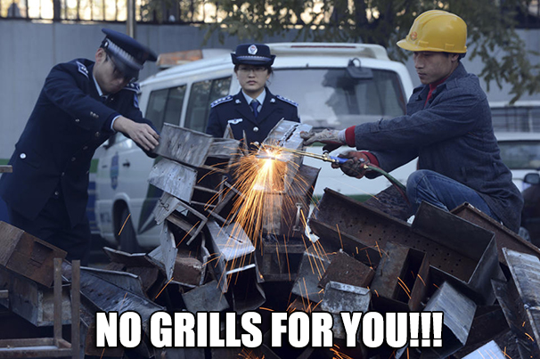 Barbecue Grills Destroyed