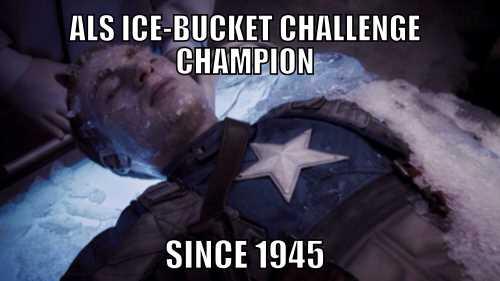 Captain America Ice Bucket Challenge Champion
