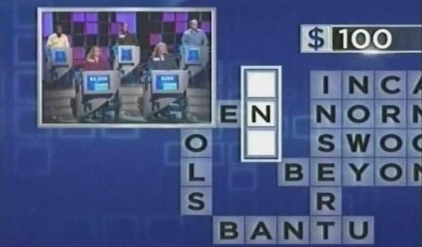 Weird Answer on Merv Griffin's Crosswords