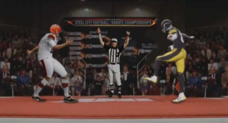 "Steelers Antonio Brown ""Crane Kick"" / Karate Kid Parody"