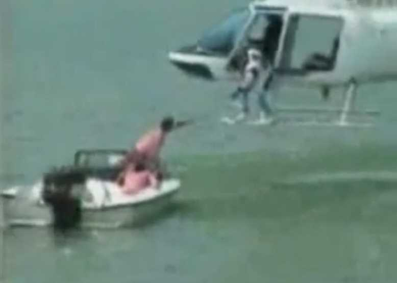 Helicopter Crash Into Water