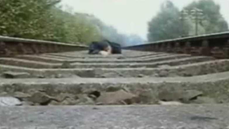 Train Runs Over Man Laying On Tracks
