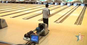 Crazy Bowling Shot Gets Strike On Other Lane