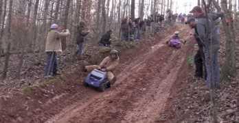 Extreme Barbie Jeep Racing Down Huge Hills