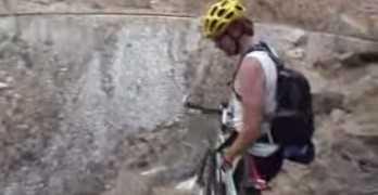 Extreme Mountain Bike Crash Down Huge Hill