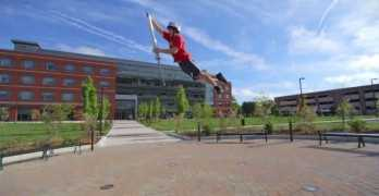Extreme Pogo Stick Tricks