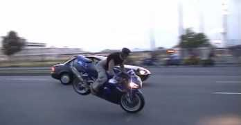 High Speed Motorcycle Collision