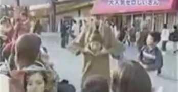 Japanese Sneeze Prank Looks Frightening