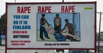 Very Odd Date Rape Sign Or Billboard