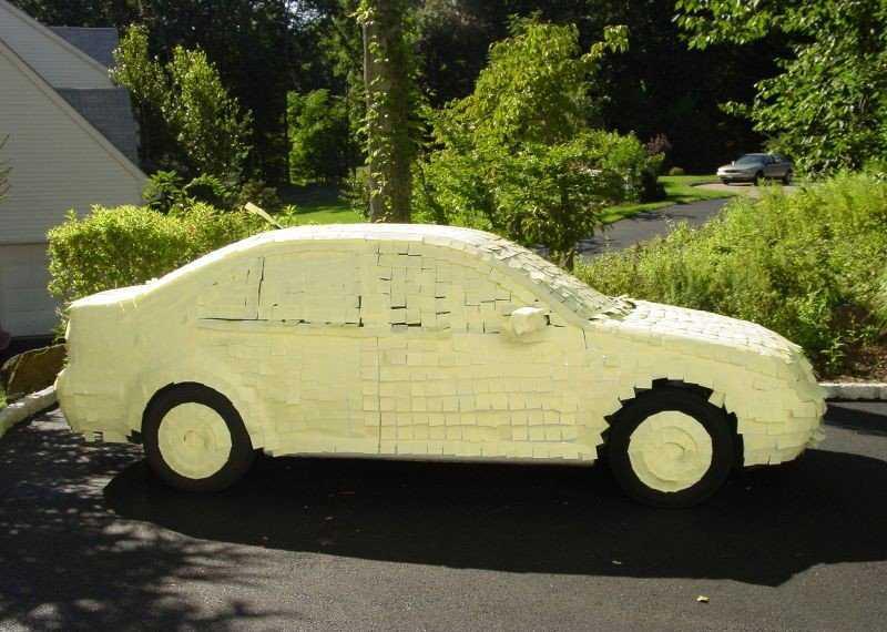 Post It Car Prank