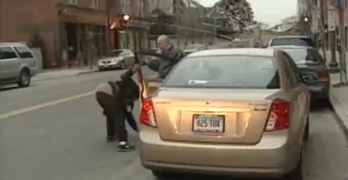 Angry Woman Hits Man With Car And Takes Off