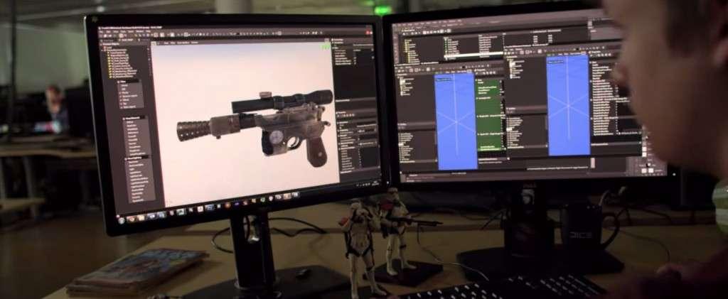 Dice Star Wars Battlefront Trailer Weapon
