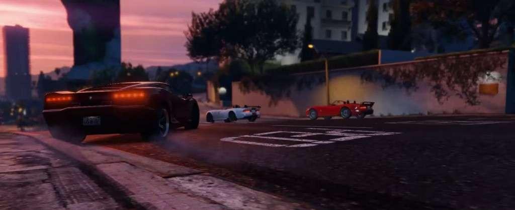 GTA V Launch Trailer Cars