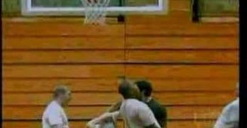 Girl Gets Tossed Through a Basketball Hoop