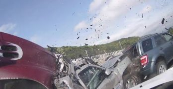 Insane GoPro Highway Accident Caught On Video