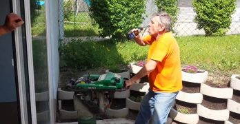 Jackhammer Beer Fail That Gets Him Shaking Mad