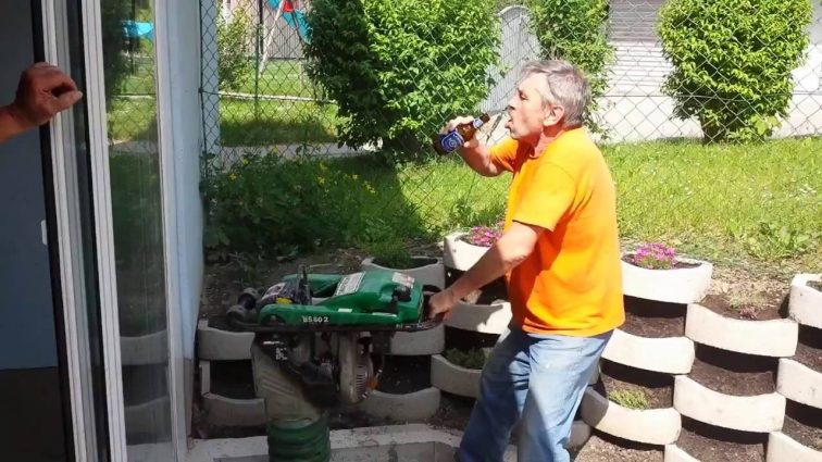 Drinking Beer When Jackhammering